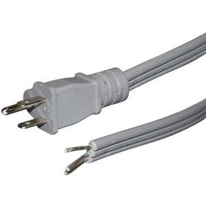 Certified Appliance Accessories(R) 15-0346ST 15-Amp Straight Plug Head Power Supply Cord, 6ft