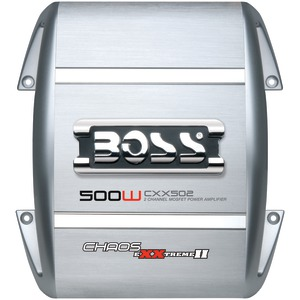 BOSS AUDIO CXX502 500-WATT CHAOS EXXTREME 2-CHANNEL AMP