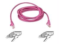 3FT CAT6 SNAGLESS PATCH CABLE, UTP, PINK PVC JACKET, 23AWG, 50 MICRON, GOLD PLAT