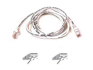 BELKIN FASTCAT - PATCH CABLE - RJ-45 (M) - RJ-45 (M) - WHITE
