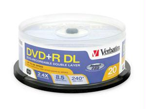 AZO DVD+R DL 8.5GB 8X WITH BRANDED SURFACE - 20PK SPINDLE