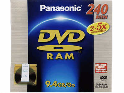 9.4 GB DVD-RAM 3X DISC , TWO SIDED, REMOVABLE CARTRIDGE TYPE
