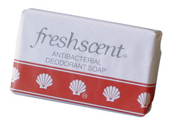 1oz. Freshscent Antibacterial Deodorant Wrapped Shower Soap - 500-Piece Case
