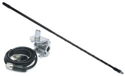 3' Top Loaded Fiberglass CB Antenna with Mirror Mount & Cable  750W