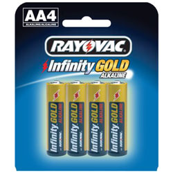 AA Cell Infinity Gold Series Alkaline Batteries - 4-Pack