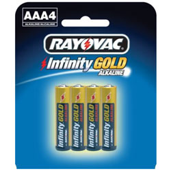 AAA Cell Infinity Gold Series Alkaline Batteries - 4-Pack