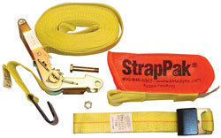 2 x 27' Ratchet Strap with Wide Handle  2004 Webbing and StrapPak(TM)
