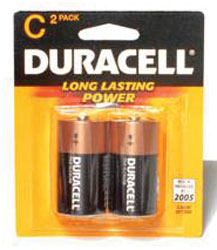 C Cell Alkaline Batteries - 2-Pack