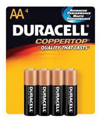 AA Cell Alkaline Batteries - 4-Pack