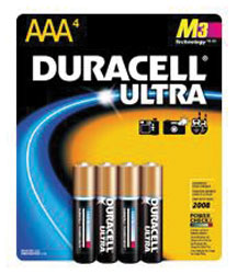AAA Cell Alkaline Batteries - 4-Pack