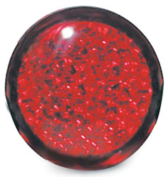 1.75 Round Adhesive Lights with Reflective Lens  Red 2-Pack
