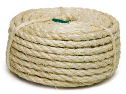 1/4x50' (6mmx14m) 3-Strand Twisted Sisal Rope