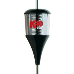 49 Plus Series 6000 Watt Trucker Antenna  Black/Clear with Chrome Coil