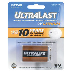 9-Volt Lithium-Ion Battery - Single Pack