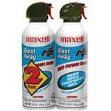 MAXELL 190026 2PK BLAST AWAY CANNED AIR 154A