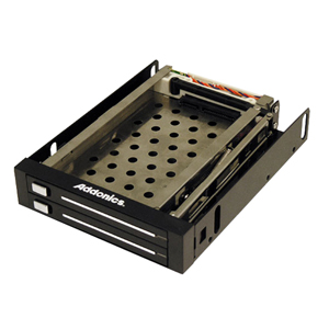 ADDONICS AE25SNAP2SA DUAL SNAP-IN MOBILE RACK