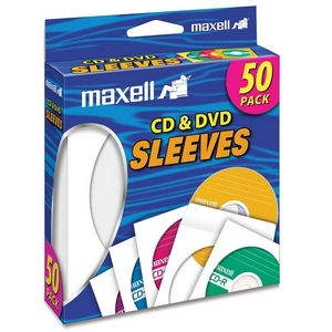 MAXELL 190135 MAXELL CD/DVD SLEEVES