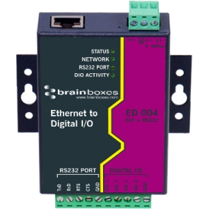 BRAINBOXES ED-004 ETHERNET TO 4 DIO + ETHERNET TO