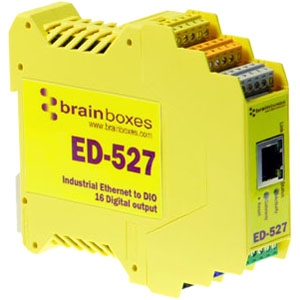 BRAINBOXES ED-527 ETHERNET TO 16 DIGITAL OUTPUTS