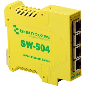 BRAINBOXES SW-504 INDUSTRIAL ETH 4PORT SWITCH