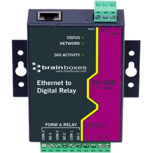 BRAINBOXES ED-038 ETHERNET TO DIGITAL IO RELAY