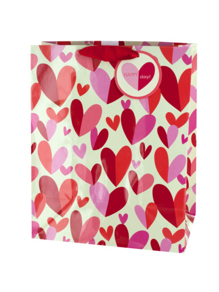 'Happy Day' Hearts Gift Bag (Case of 144 )