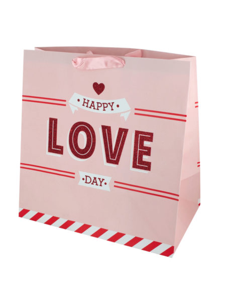 'Happy Love Day' Large Gift Bag (Case of 96 )