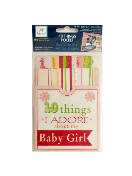 10 Things I Adore About My Baby Girl Journaling Pocket (Case of 120 )
