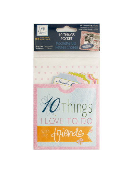 10 Things Friends Journaling Pocket (Case of 120 )