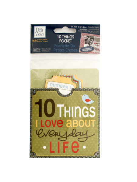 10 Things I Love About Everyday Life Journaling Pocket (Case of 120 )