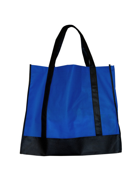 Blue/Black Shopping Tote (Case of 100 )