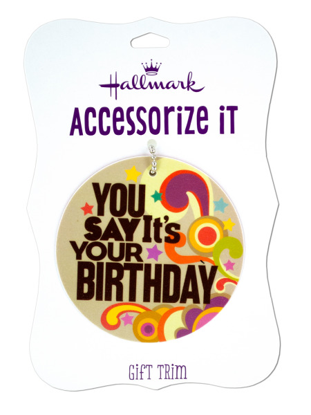 'You Say It's Your Birthday' Gift Trim Tag (Case of 144 )