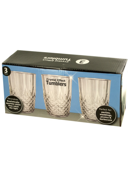 15 oz. Crystal Effect Tumblers Set (Case of 12 )