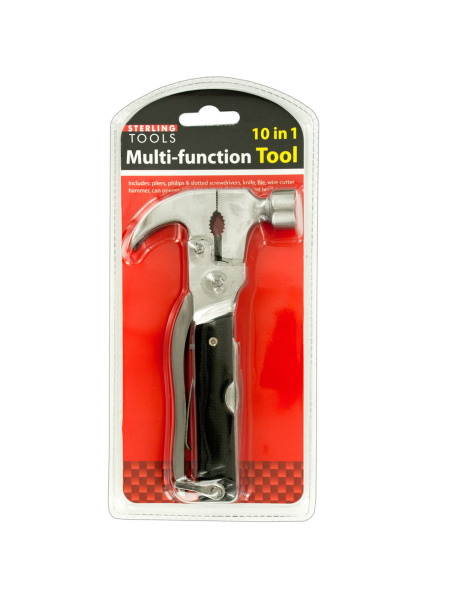 10 in 1 Multi-Function Hammer Tool (Case of 6 )