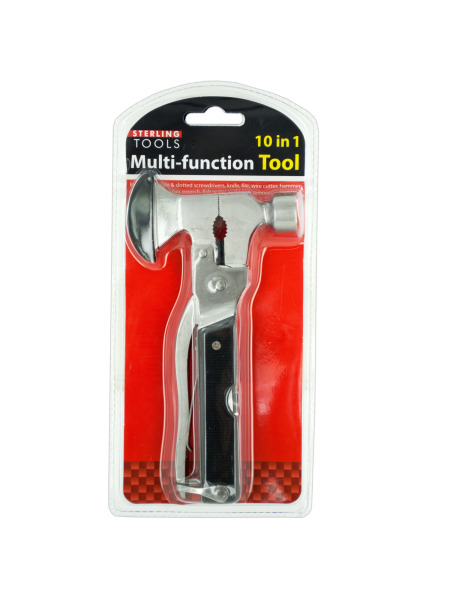 10 in 1 Multi-Function Hammer & Axe Tool (Case of 6 )