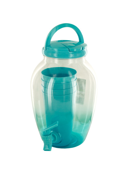 1.2 Gallon Beverage Dispenser Set with Cups (Case of 6 )