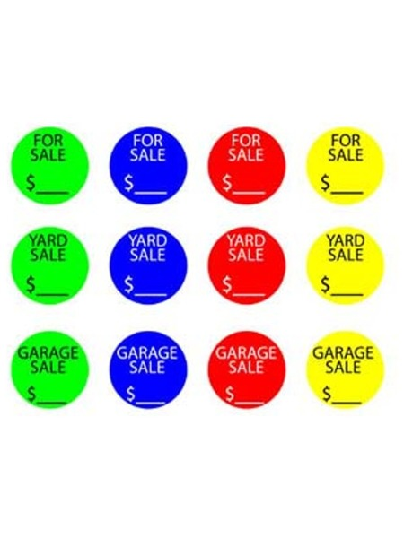 """For Sale"" Round Sticker Labels (Case of 144 )"