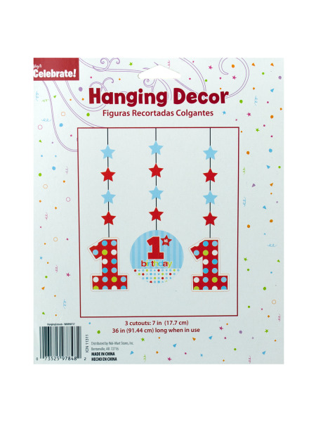 1st Birthday Hanging Decor Cutouts (Case of 144 )