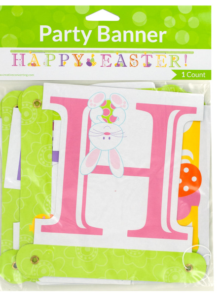 'Happy Easter!' Jointed Party Banner (Case of 144 )
