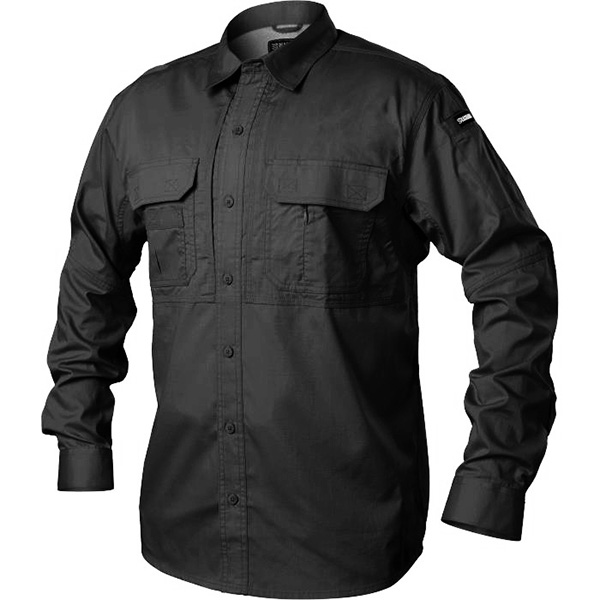 Tactical Pursuit Shirts, Long Sleeve, Black, 2XL