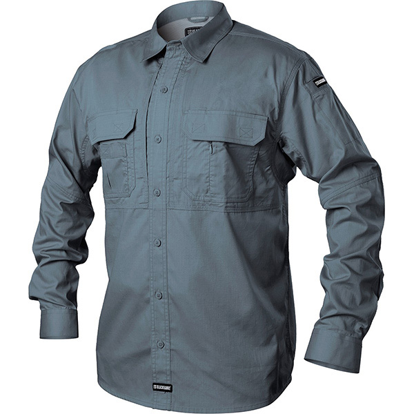 Tactical Pursuit Shirts, Long Sleeve, Steel, X-Large