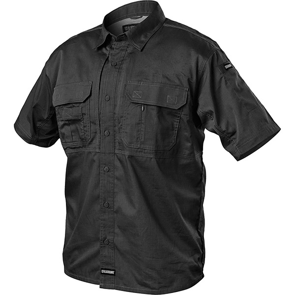 Tactical Pursuit Shirts, Short Sleeve, Black, X-Large
