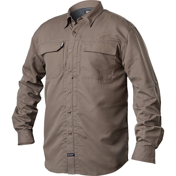 Tac Convertible Shirt, Long Sleeve, Fatigue, 2XL