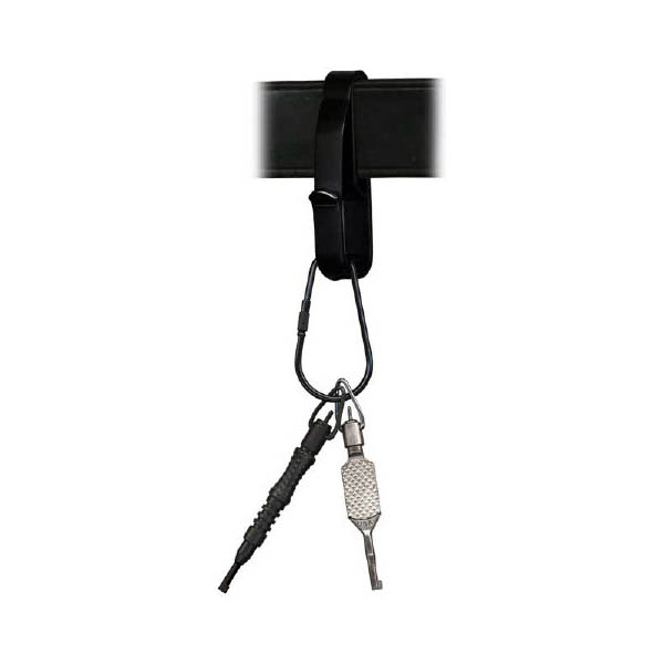 Key Ring Holder, Fits 1.75 in. Wide Belt, Black