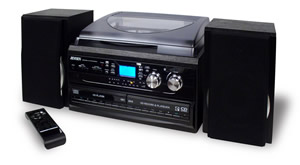 3-Speed Turntable with 2 CD player/