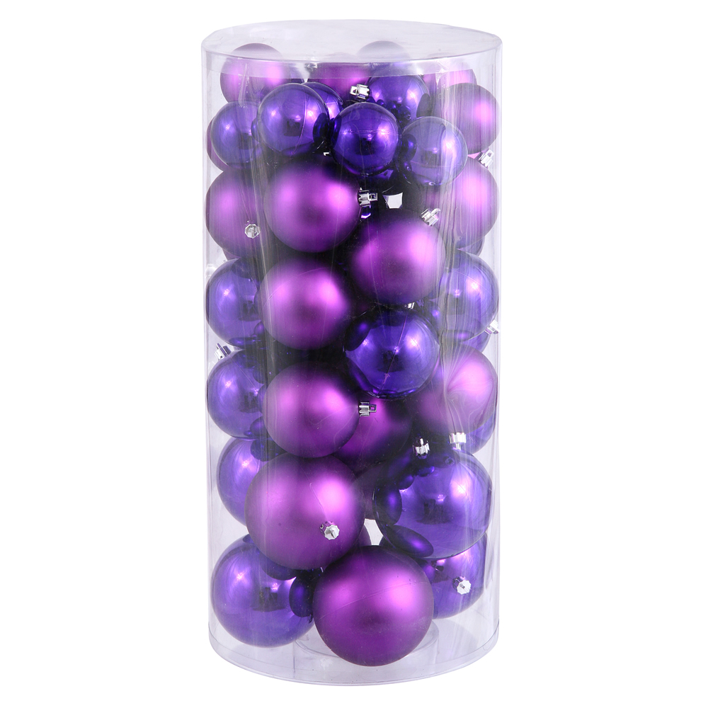"1.5""-2"" Purple Balls Shiny/Matte 50/Box"