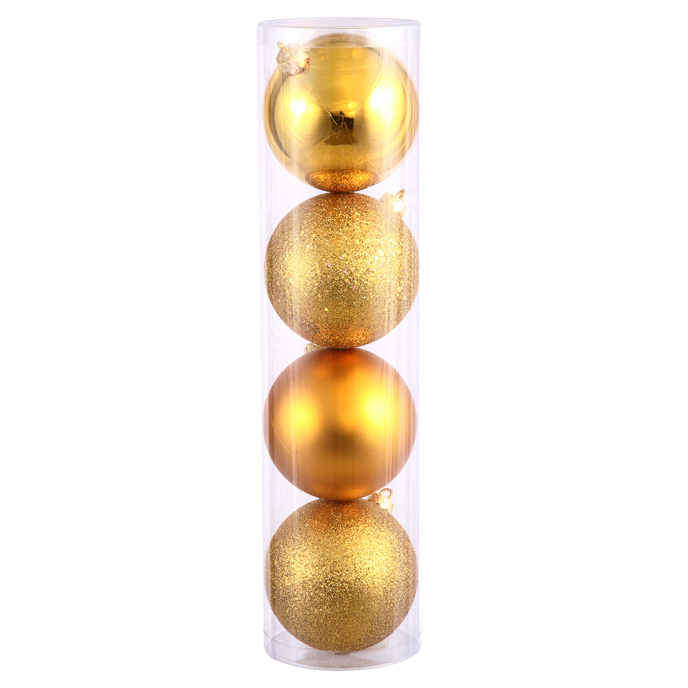 "1.6"" Antq Gold 4 Finish Orn Asst 96/Box"